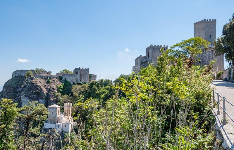 Paisagem do Erice, Sicília, Itália imagens de stock