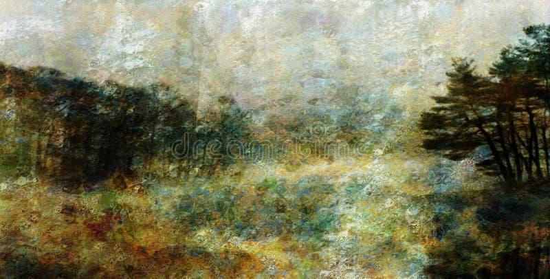 Paisagem do estilo do impressionista ilustração royalty free