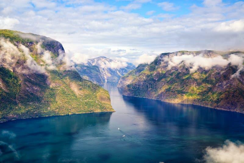 Paisagem do fiorde em Noruega fotos de stock royalty free