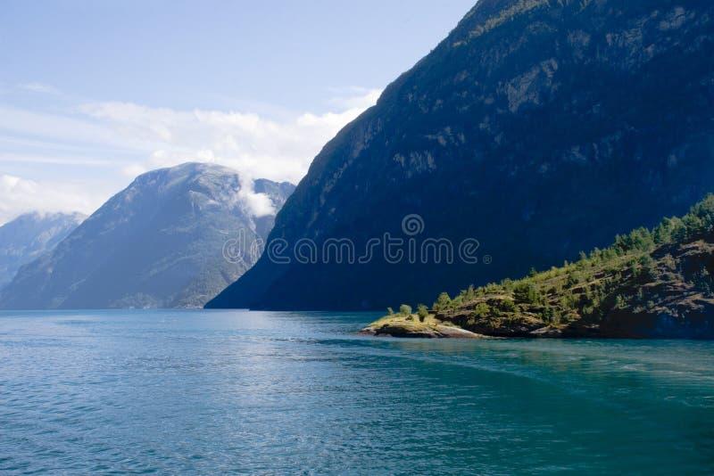 Paisagem do Fjord imagem de stock