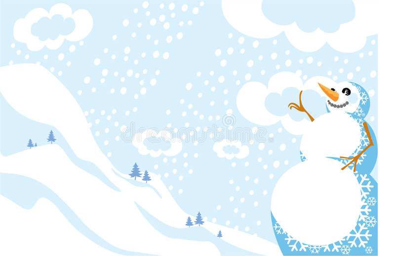 Paisagem do inverno ilustração do vetor