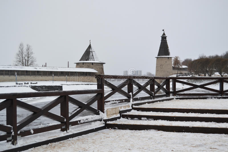 A paisagem do inverno foto de stock royalty free