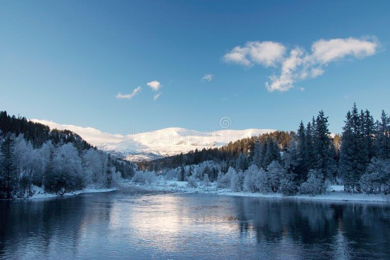 Paisagem do inverno da montanha fotos de stock royalty free