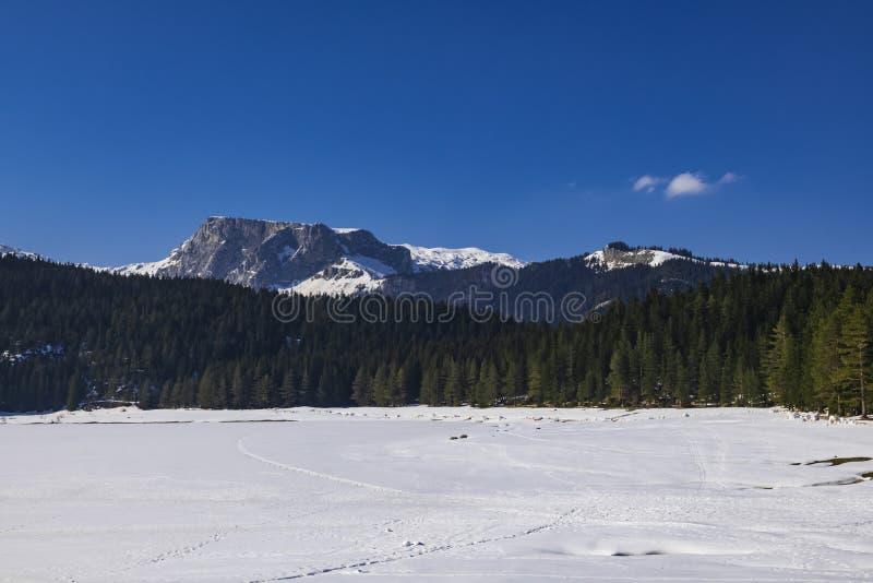 Paisagem do inverno em Montenegro imagens de stock royalty free