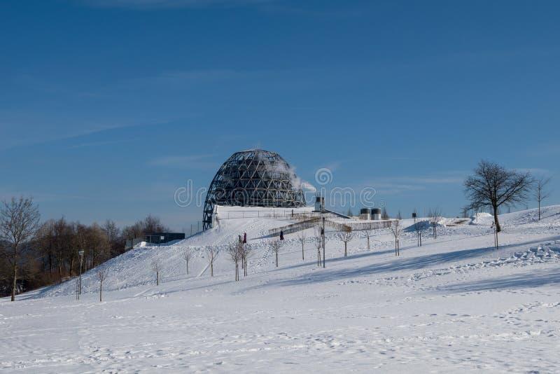 Paisagem do inverno no winterberg, Alemanha imagens de stock