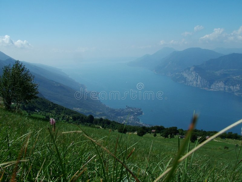 Paisagem Do Lago Garda Fotografia de Stock Royalty Free