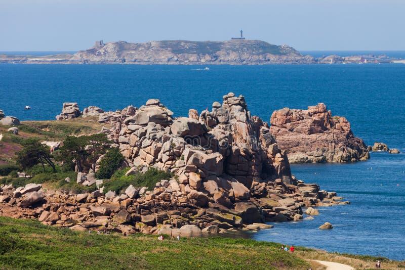 Paisagem do litoral de Brittany, França foto de stock
