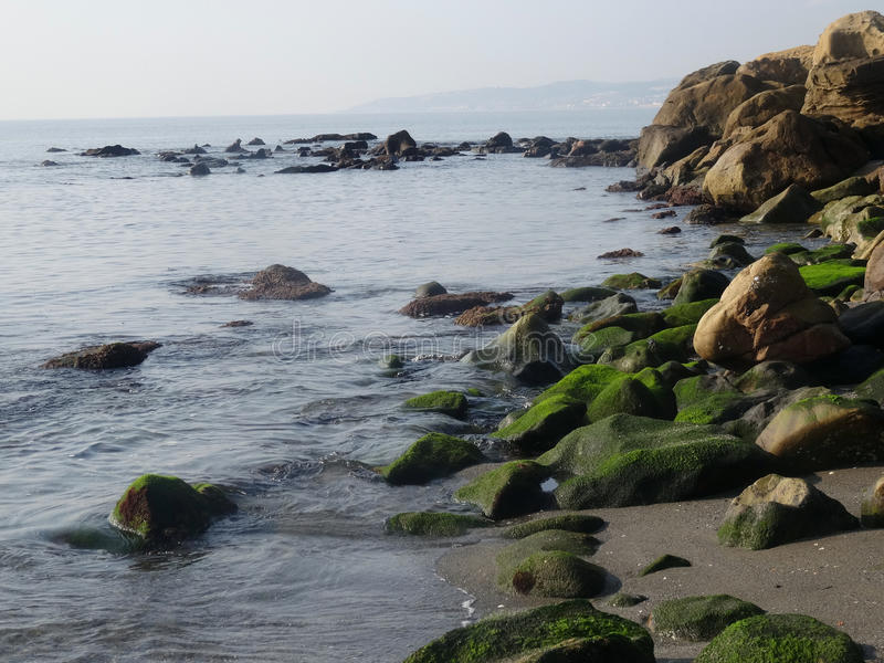 Paisagem do litoral em Estepona imagem de stock royalty free