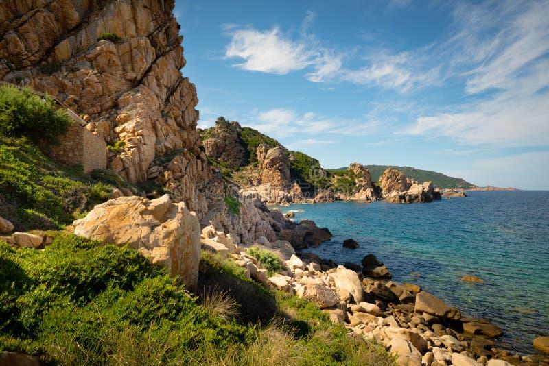 Paisagem do mar de sardinia do paradiso da costela fotos de stock