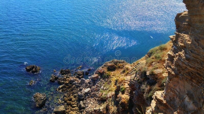 Paisagem do Mar Negro Kaliakra imagem de stock