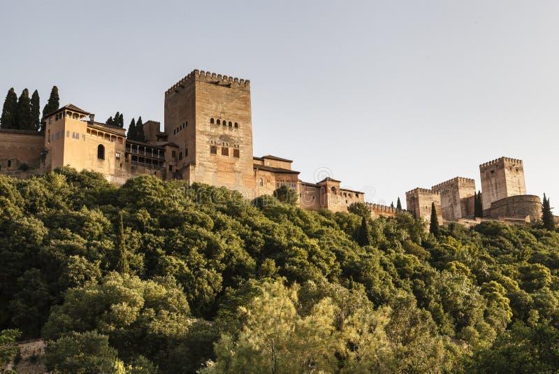 A paisagem do marco de Alhambra fora disparou imagem de stock royalty free