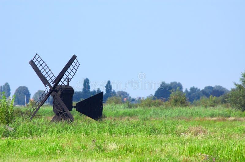 Paisagem do moinho de vento fotografia de stock royalty free