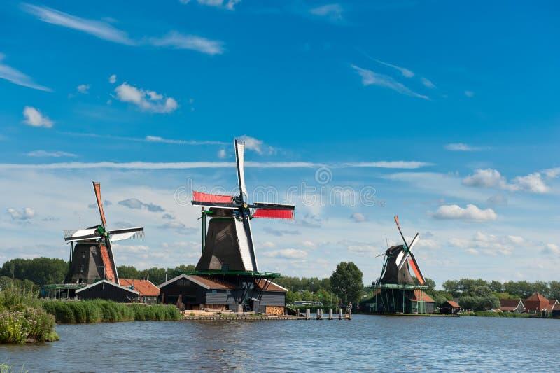 Paisagem do moinho de vento imagem de stock