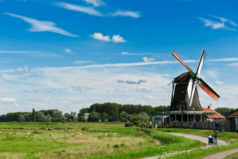 Paisagem do moinho de vento foto de stock