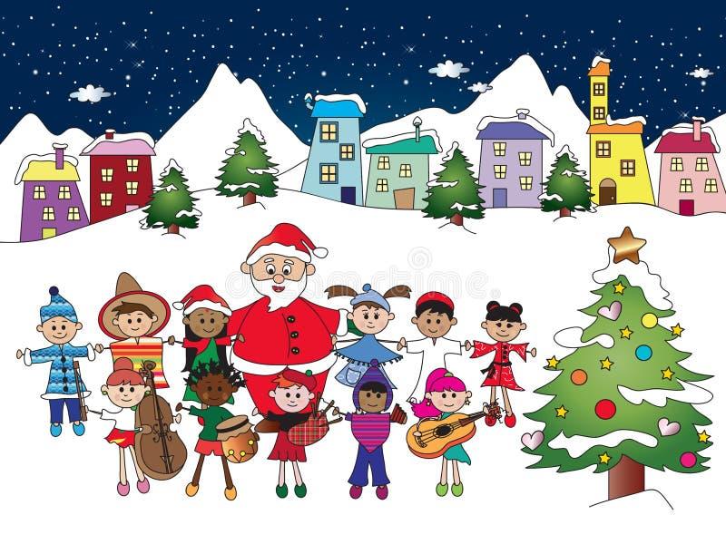Paisagem do Natal ilustração stock