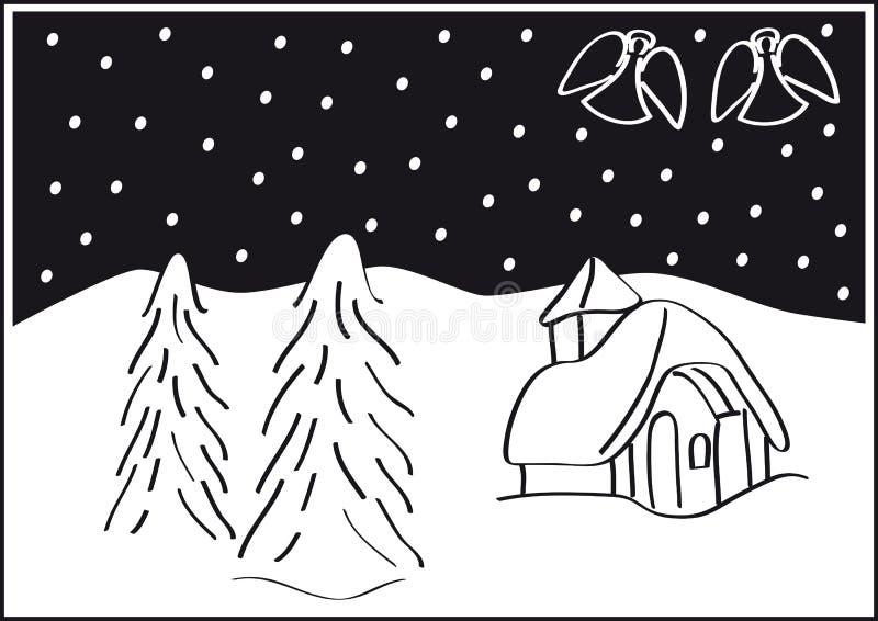 Paisagem do Natal ilustração royalty free