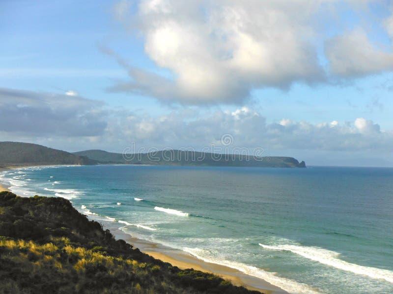 Paisagem do oceano da ilha de Bruny aspecto fotos de stock