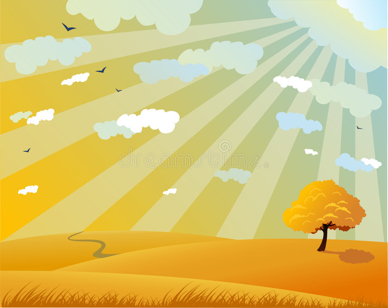 Paisagem do outono ilustração royalty free