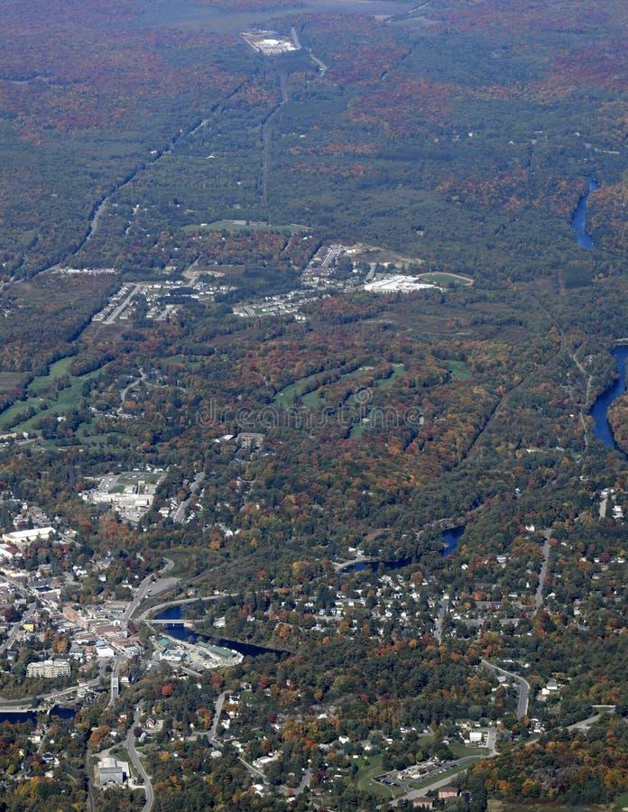 Paisagem do outono de Muskoka, aérea fotos de stock