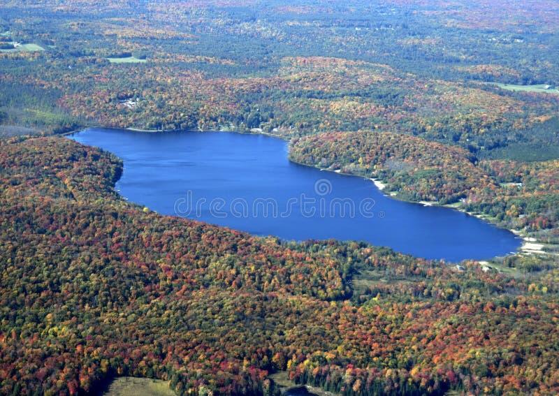 Paisagem do outono de Muskoka, aérea imagem de stock royalty free