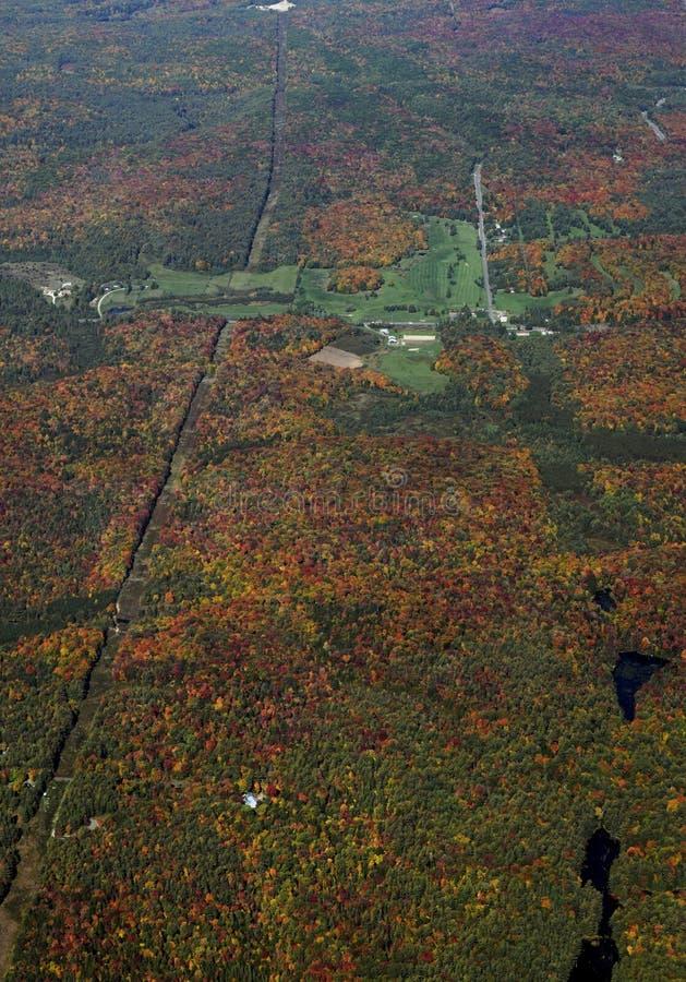 Paisagem do outono de Muskoka, aérea imagens de stock