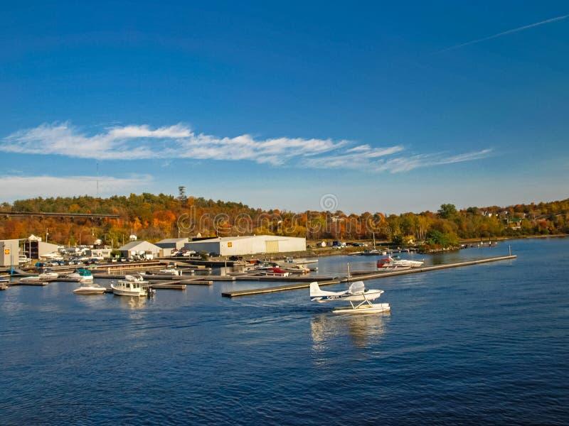Paisagem do outono no Lago Huron imagens de stock