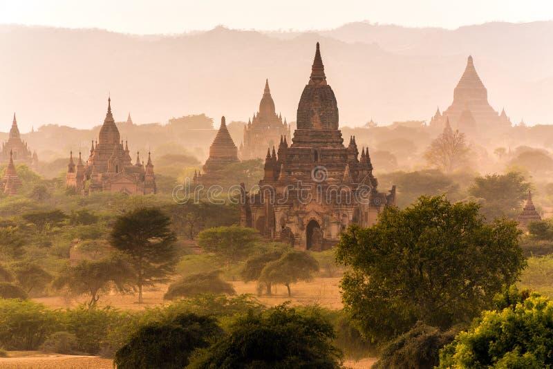 Paisagem do pagode em Bagan imagem de stock royalty free