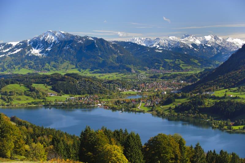 Paisagem do panorama em Baviera imagens de stock