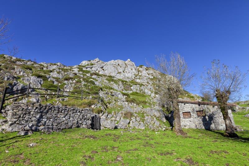 Paisagem do parque nacional de Picos de Europa fotos de stock royalty free
