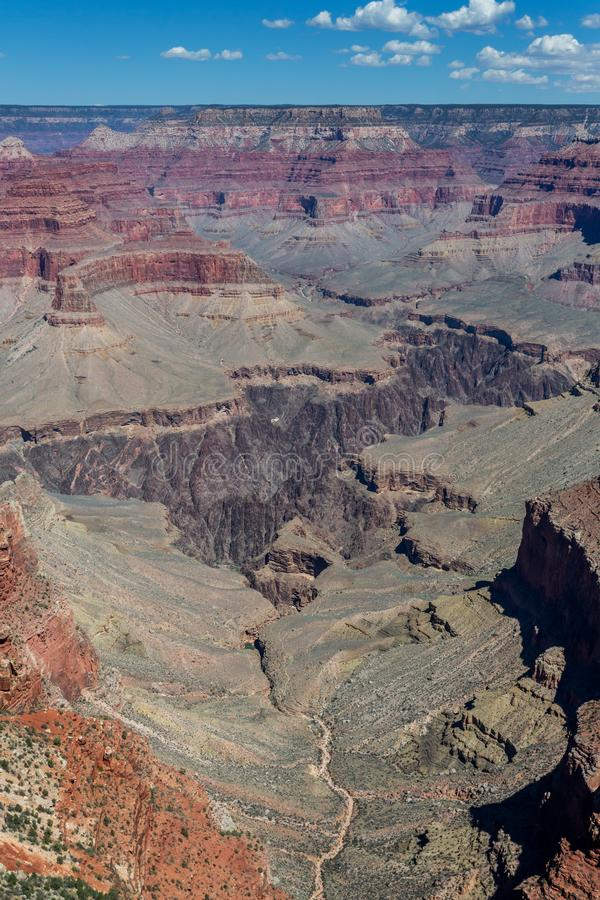 Paisagem do parque nacional do Grand Canyon, o Arizona fotos de stock royalty free