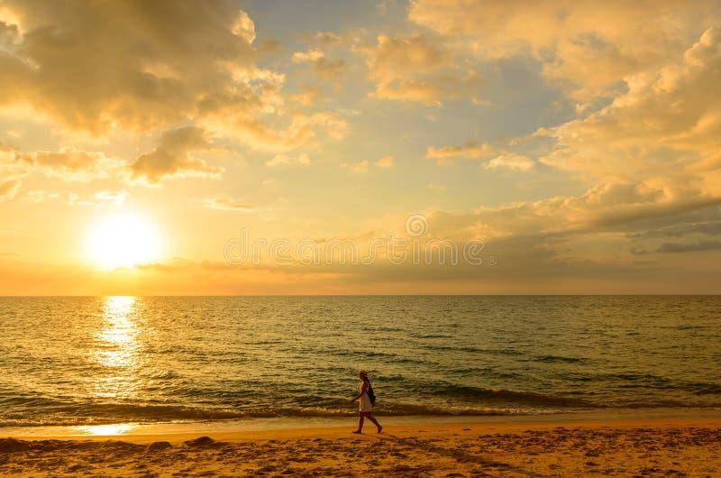 Paisagem do ponto de opinião de Phuket na praia de Surin fotos de stock