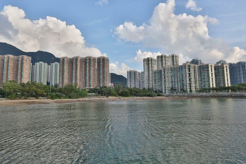 Paisagem do porto de Tolo em Hong Kong Ma On Shan imagens de stock