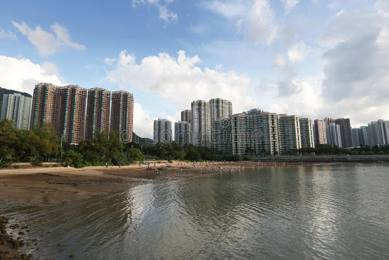 Paisagem do porto de Tolo em Hong Kong Ma On Shan imagem de stock