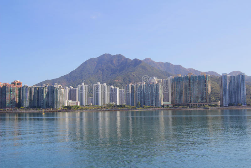 Paisagem do porto de Tolo em Hong Kong Ma On Shan imagens de stock royalty free