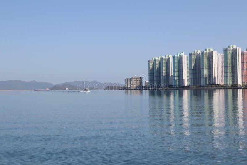 Paisagem do porto de Tolo em Hong Kong Ma On Shan fotos de stock