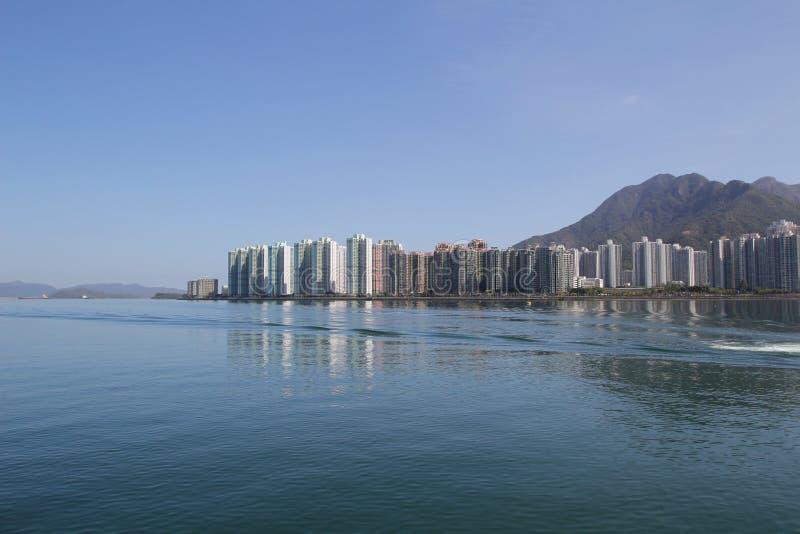 Paisagem do porto de Tolo em Hong Kong Ma On Shan foto de stock royalty free