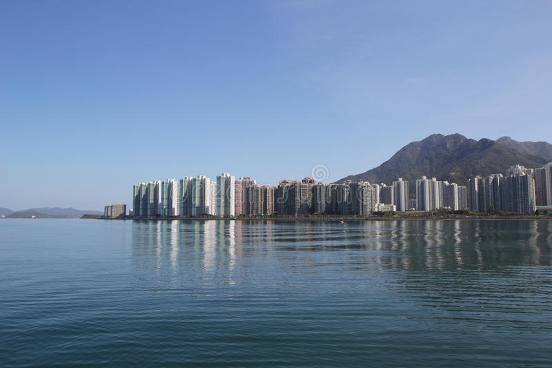 Paisagem do porto de Tolo em Hong Kong Ma On Shan fotografia de stock