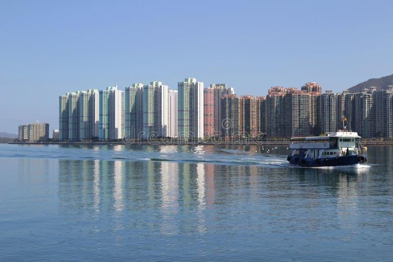 Paisagem do porto de Tolo em Hong Kong Ma On Shan foto de stock