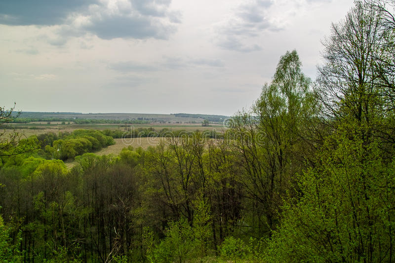Paisagem do russo na região de Kaluga fotos de stock