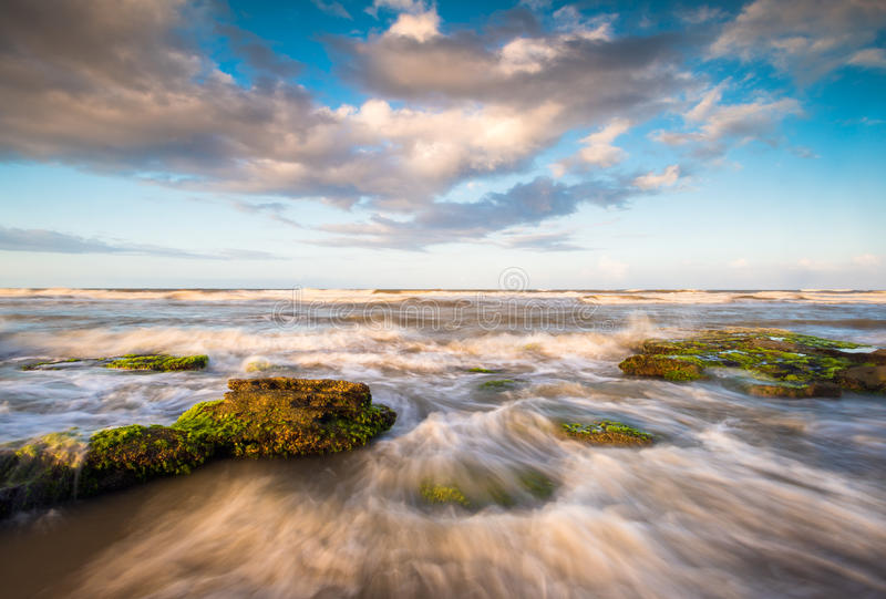 Paisagem do St Augustine Florida Scenic Beach Ocean foto de stock