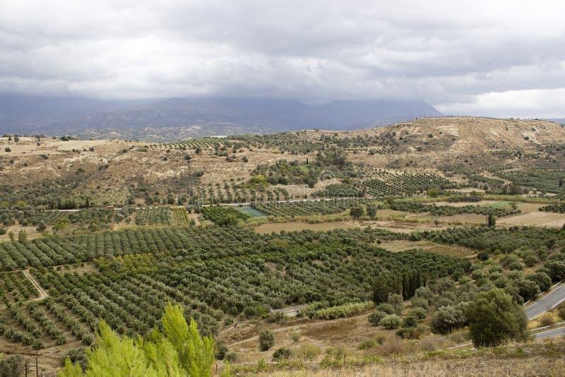 Paisagem do vale de Messara fotografia de stock royalty free