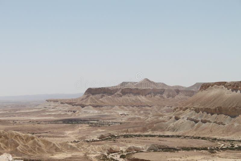 Paisagem do vale de Zin, Negev, Israel imagens de stock royalty free