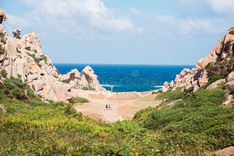 Paisagem do vale do della Luna Capo Testa de Valle da lua, Sardinia fotografia de stock royalty free