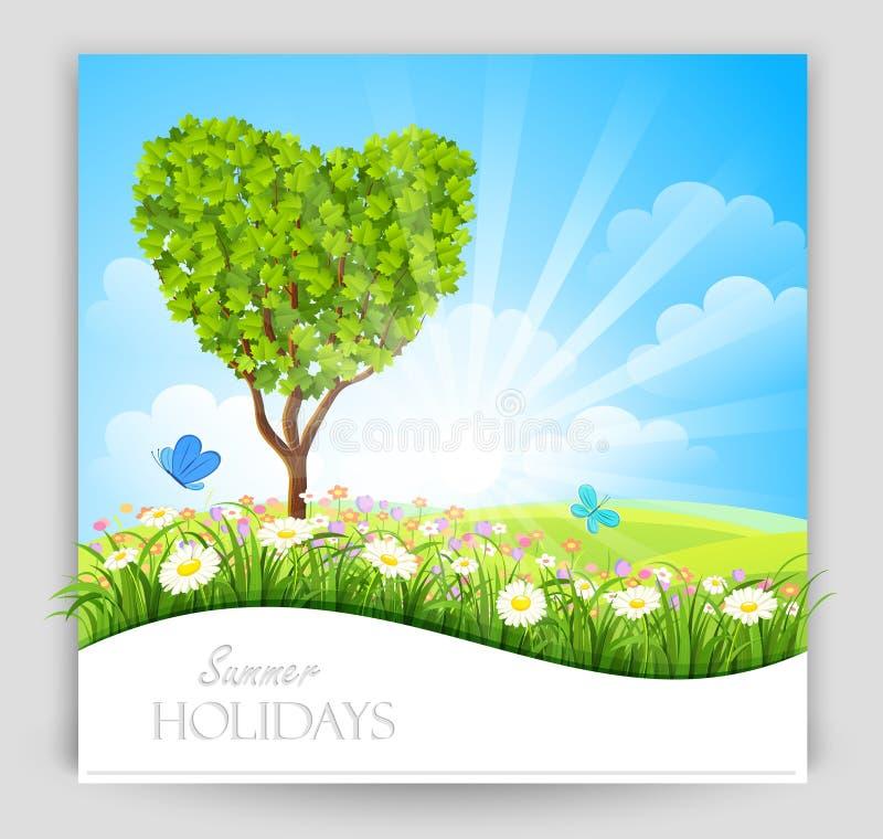 Download Bandeira do verão ilustração do vetor. Ilustração de ambiental - 29842285