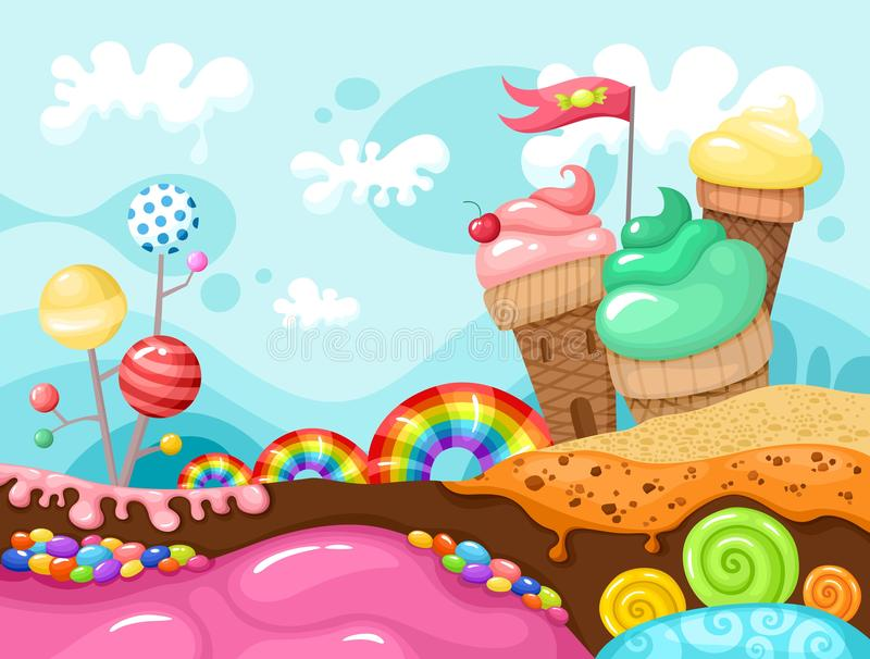 Paisagem doce ilustração stock