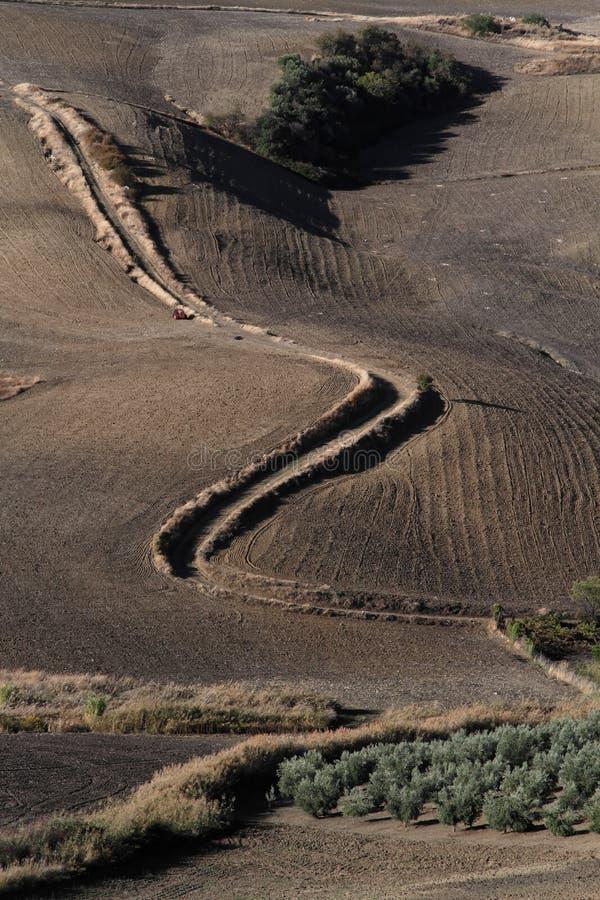Paisagem dos montes da Andaluzia foto de stock royalty free