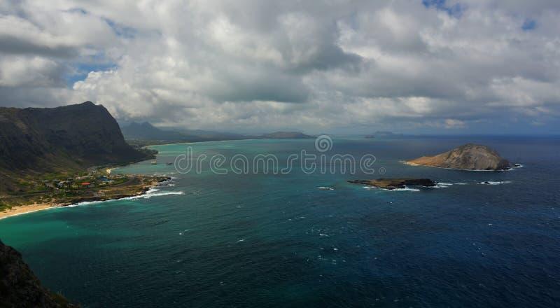 Paisagem dramática de Oahu, Havaí imagem de stock royalty free