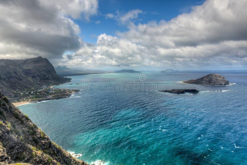 Paisagem dramática de Oahu, Havaí fotografia de stock