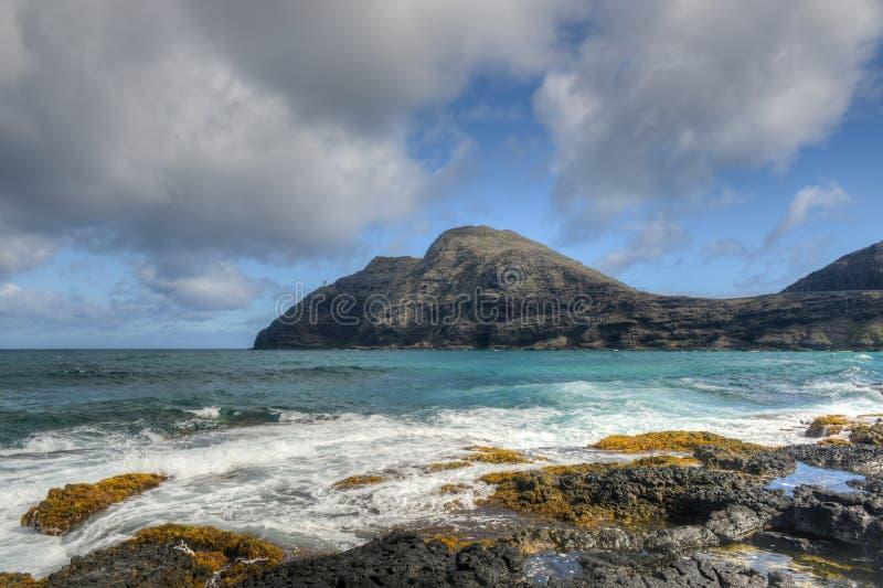 Paisagem dramática de Oahu, Havaí fotos de stock royalty free