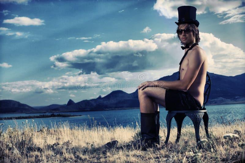 Paisagem e cavalheiro foto de stock royalty free